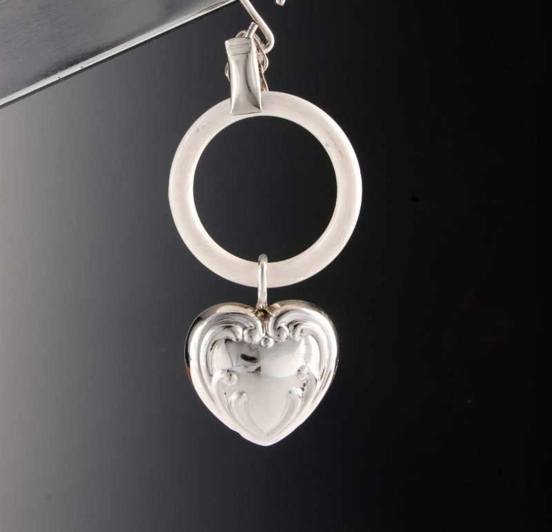 """925 silver rattle for babies and children - motif heart """"14452.8"""