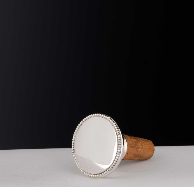 """Bottle cork """"13708"""" with pearl ornamentation in 925 silver 