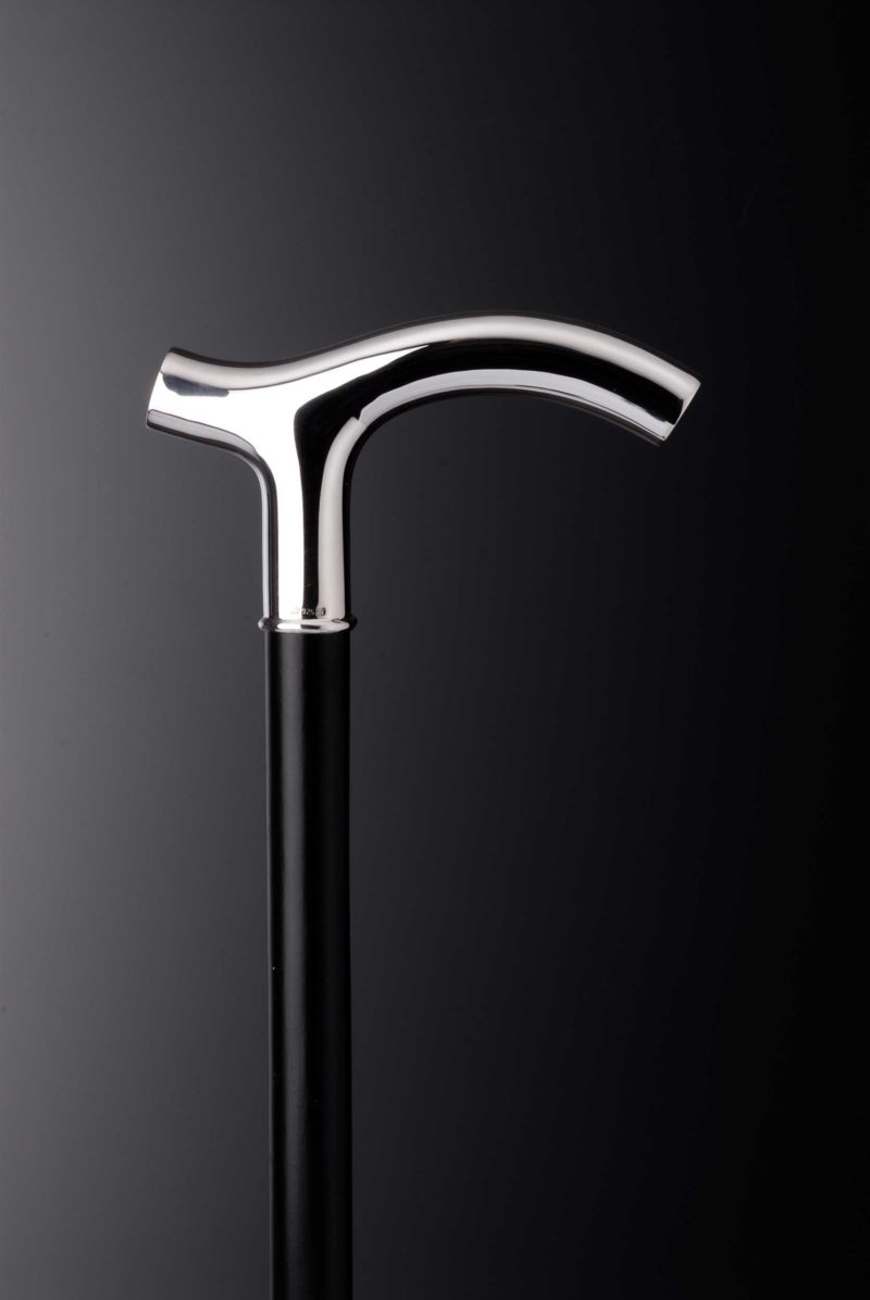 """Walking stick crutch """"125"""" with engraving plates 
