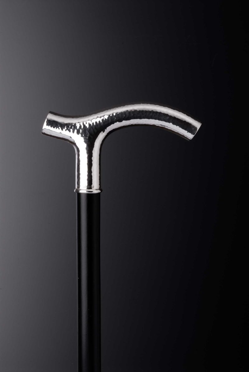 """Walking stick crutch """"125G"""" hammer blow with engraving plates"""