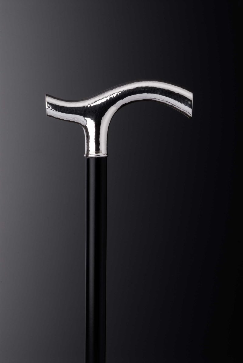 """Walking stick crutch """"348G"""" hammer blow with engraving plates"""