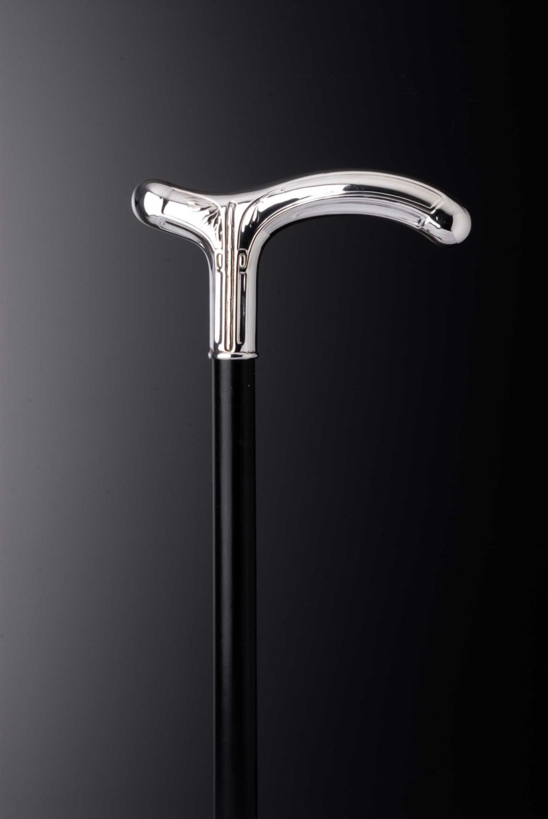 """Walking stick crutch """"Leaves 349"""" decorated 