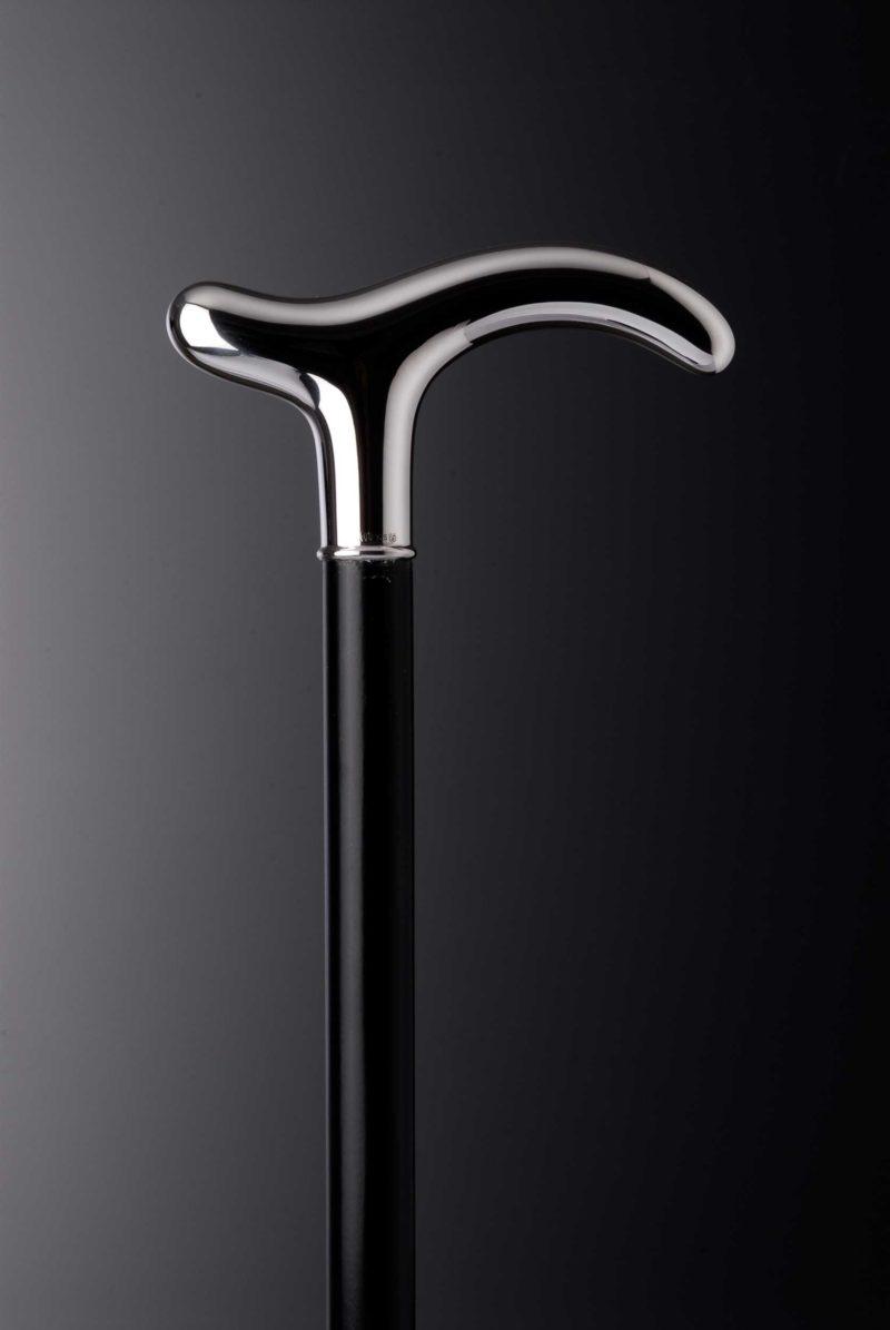 "Walking stick crutch ""Alter Fritz 4910"" smooth | Möhrle Silber Germany"