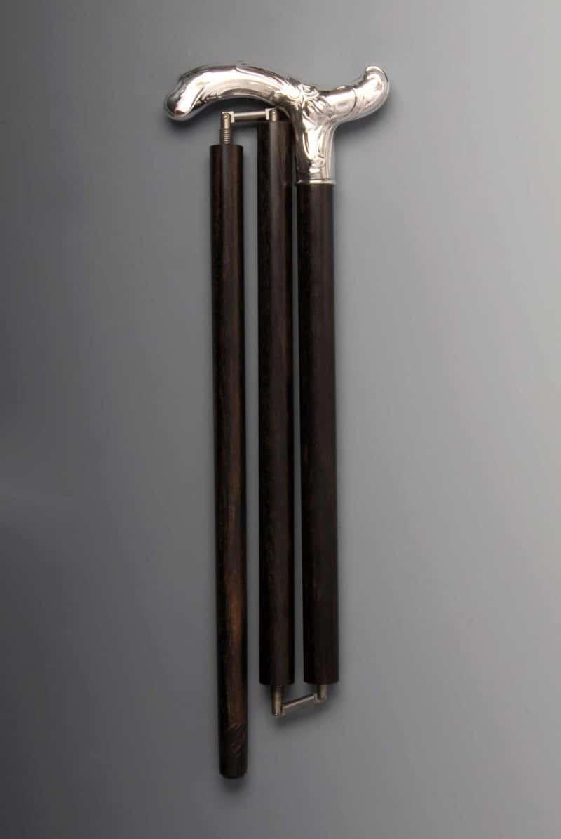"Walking stick ""crutch"" 925 silver foldable | Möhrle Silber Germany"