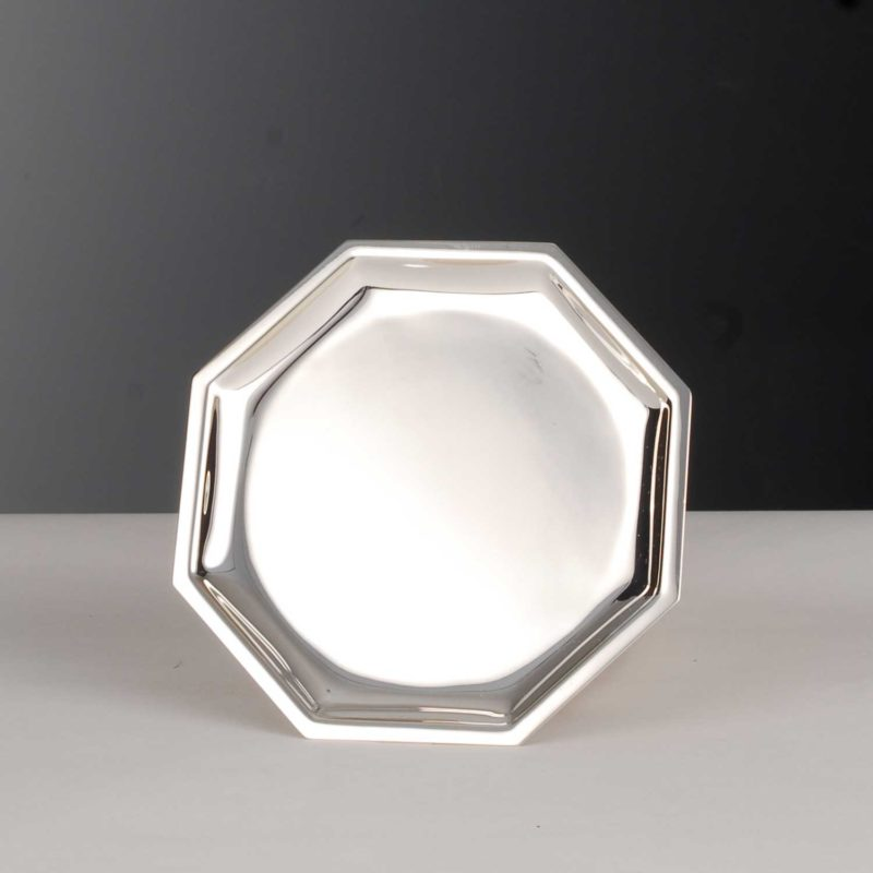 """Glass Plate """"14394"""" Square 925 Sterling Silver Solid 