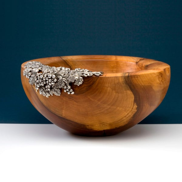 Wooden Bowls With Silver