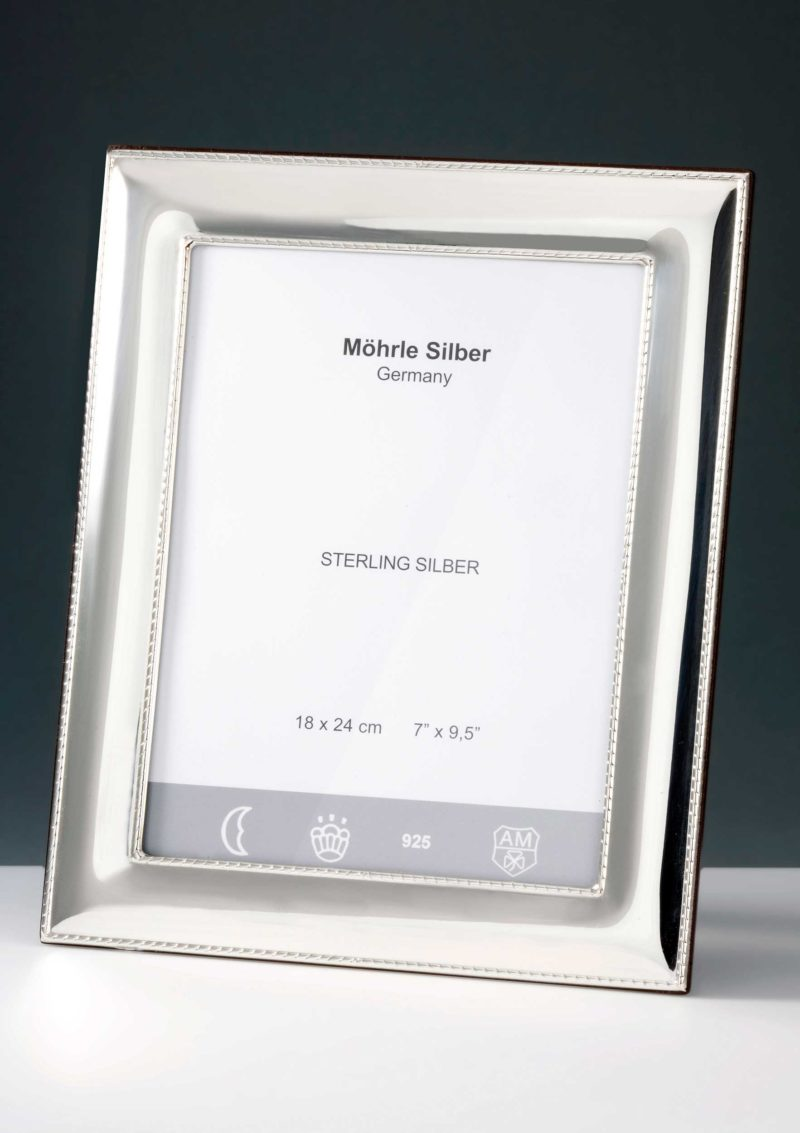 """Picture frame silver 925 """"230"""" cord edge   Möhrle Silber Germany"""