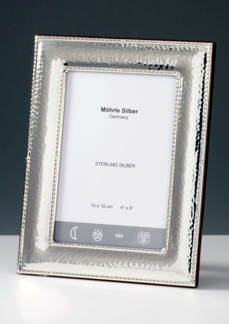 """Picture frame silver 925 """"231"""" hammer blow   Möhrle Silber Germany"""