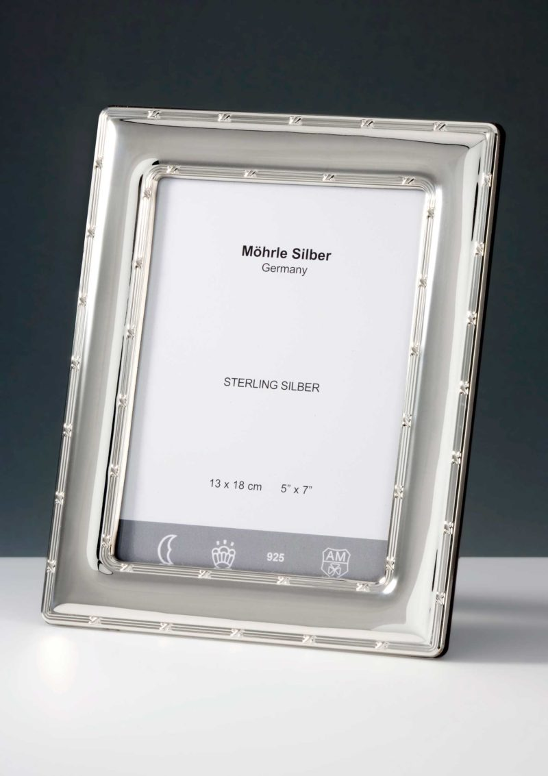 """Picture frame silver 925 """"240"""" double cross band   Möhrle Silber Germany"""