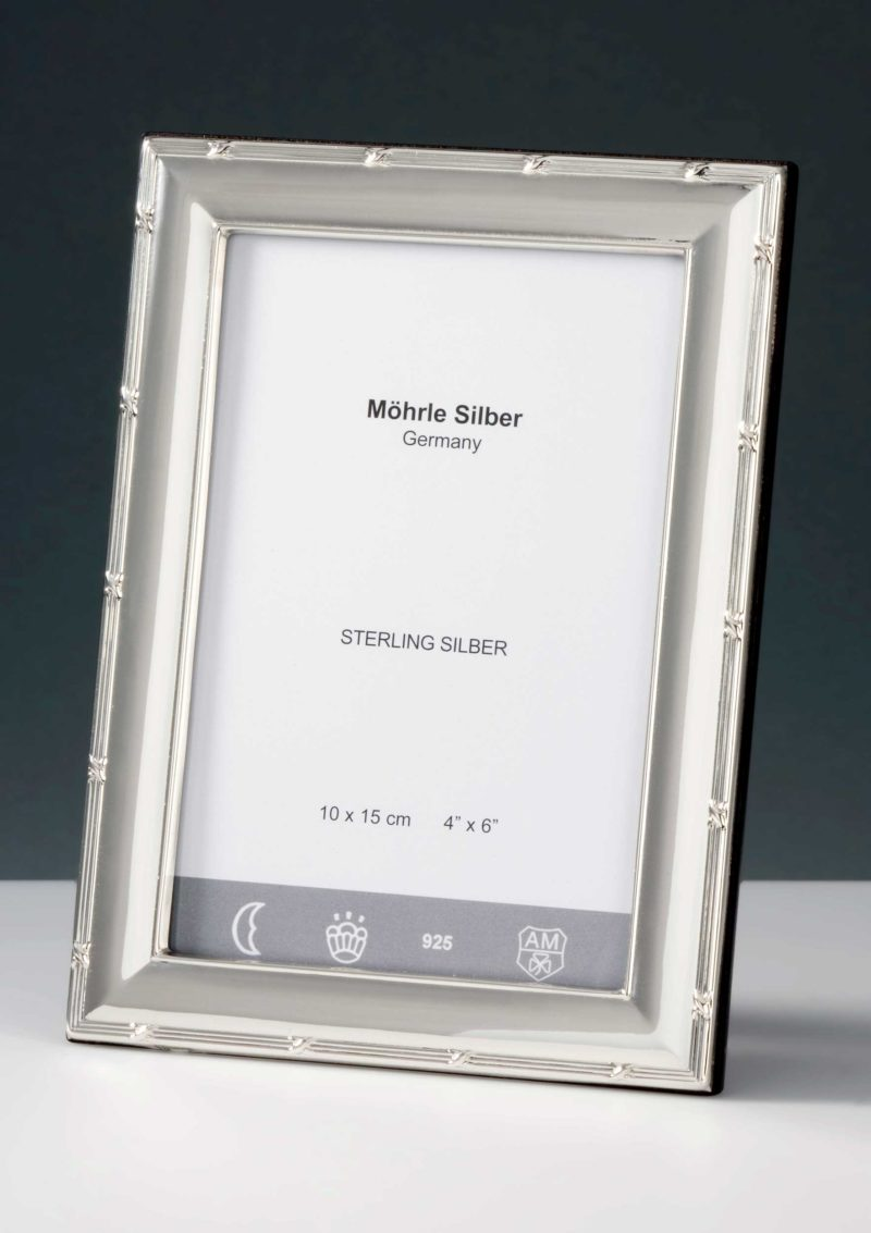"""Picture frame silver 925 """"243"""" cross band   Möhrle Silber Germany"""