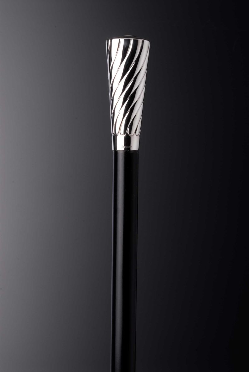 "Walking stick men silver knob ""8576"" decorated | Möhrle Silber Germany"