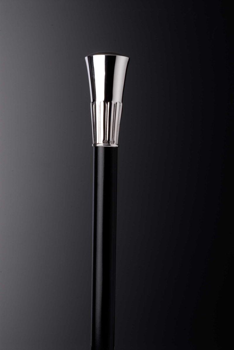 "Walking stick men silver knob ""9902"" decorated | Möhrle Silber Germany"