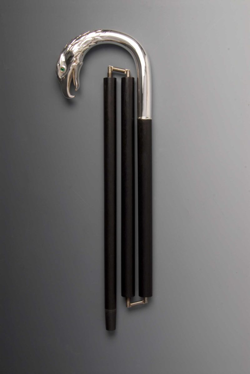 "Walking Stick ""Eagle"" 925 Silver foldable | Möhrle Silber Germany"