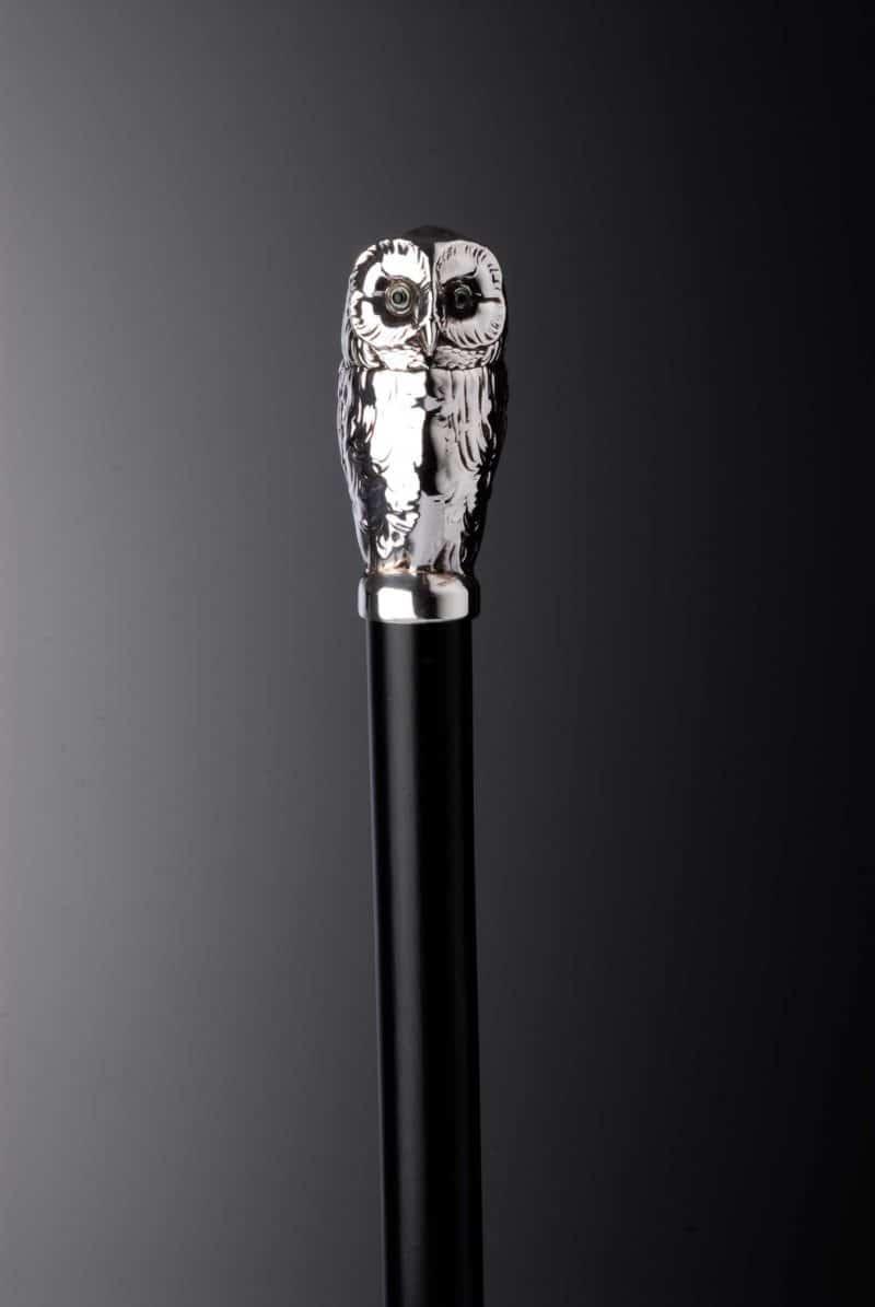 "Walking Stick Silver ""Owl"" 9947 | Möhrle Silber Germany"