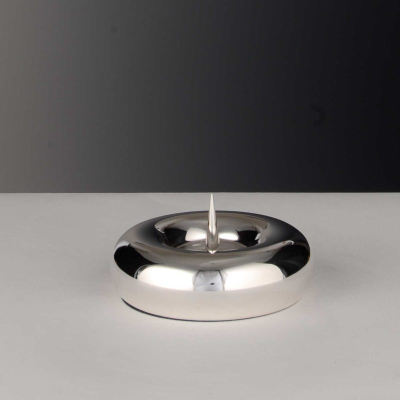 """Candlestick for baptism """"Christening candlestick heavy""""   Möhrle Silber Germany"""