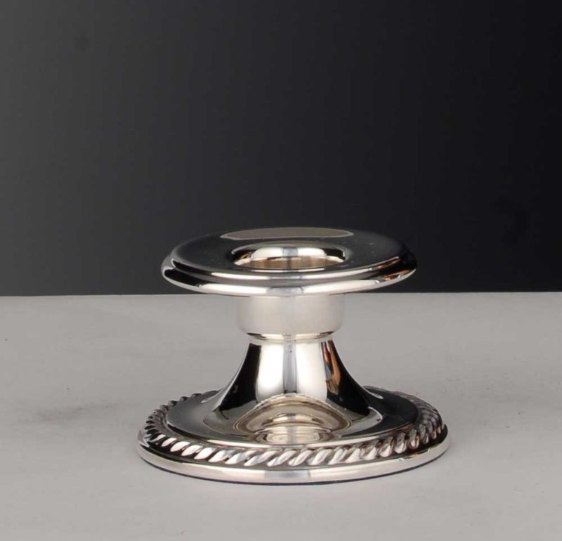 """Smoke candlestick / christening candlestick 925 silver """"cord""""   Möhrle silver"""