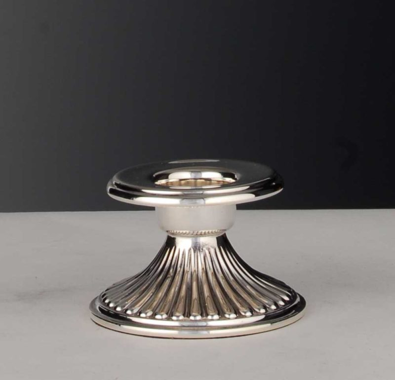 "Smoke candlestick / christening candlestick 925 silver ""Queen Anne""   Möhrle Silber"