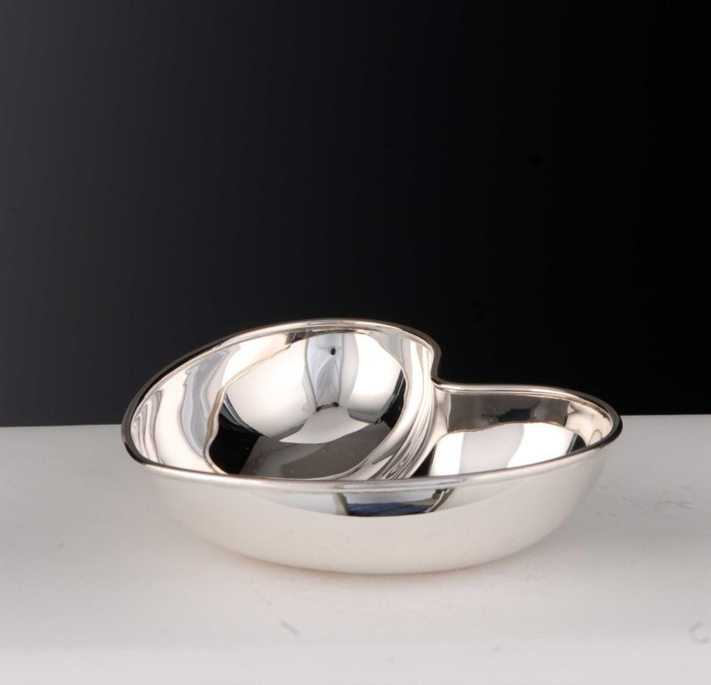 """Bowl """"14490.0"""" Heart Shape 925 Sterling Silver Solid"""