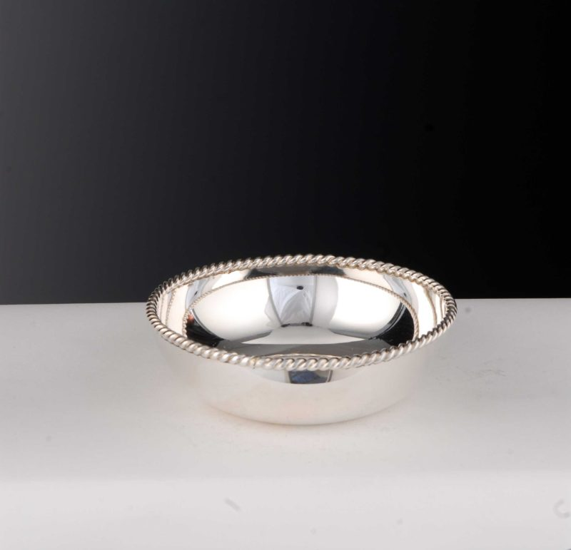 """Bowl """"14496"""" Cord Rim 925 Sterling Silver Solid   Möhrle Silver"""