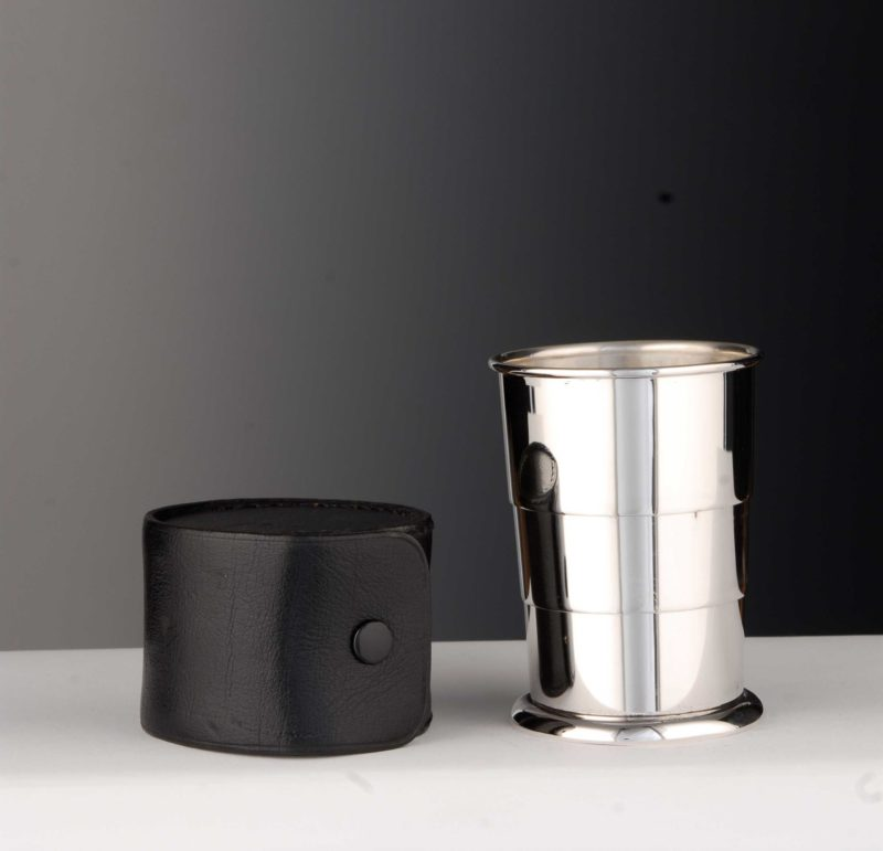 "Telescopic mug ""14437"" optional with leather case | Möhrle silver"