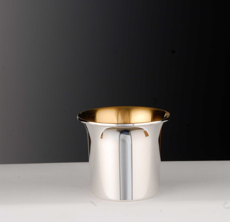 """Mug """"50107"""" optional inside gold plated and with hammer finish"""