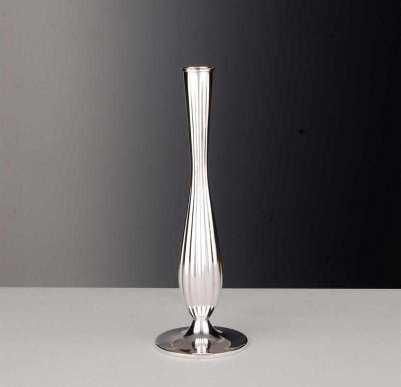 "Vase ""13965"" Grooves 925 Sterling Silver   Möhrle Silber Germany"