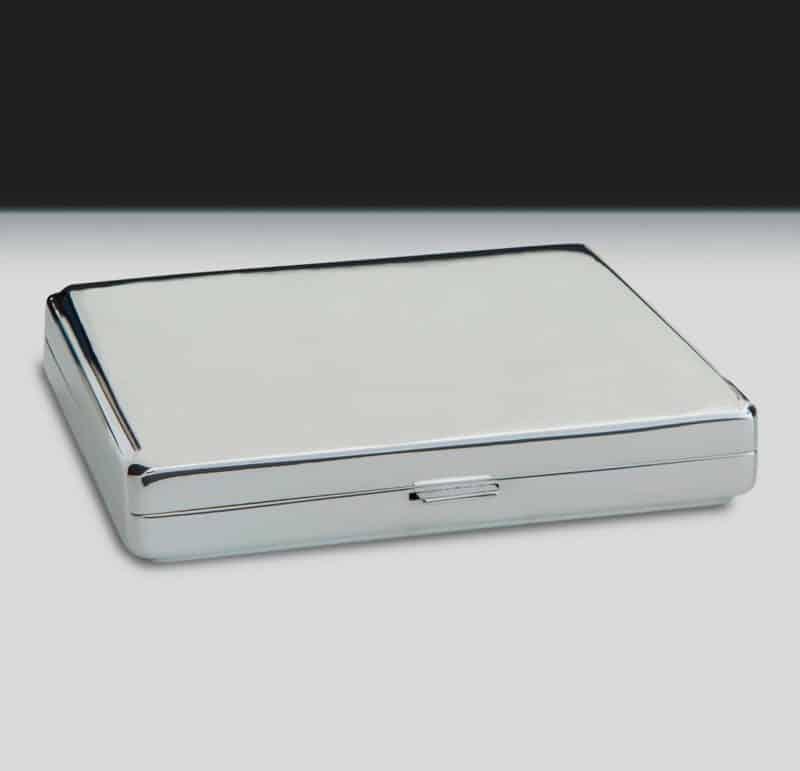 """Cigarette case """"1281.2"""" for 20 cigarettes made of 925 silver"""